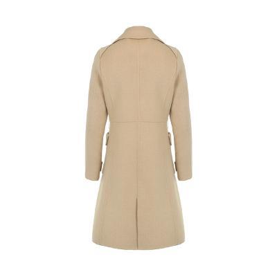 double button pocket point coat